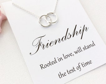 entwined circles necklace best friend necklace best friends