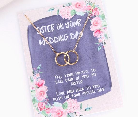 Sister Wedding Gift Sisters Wedding Gift Sister Wedding Gift Necklace Sister Wedding Day Love Knot Necklace Sister Wedding