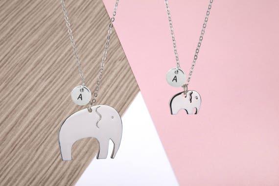 scarpe sportive 7b1f3 f44ab Madre e figlia elefante collana, madre figlia collana, collana di elefante,  regali per mamma, regalo mamma, mamma e figlia collana,