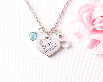 best friend necklace, friendship necklace, bff necklace, best friend gift, best friend jewelry, friendship jewelry, best friends