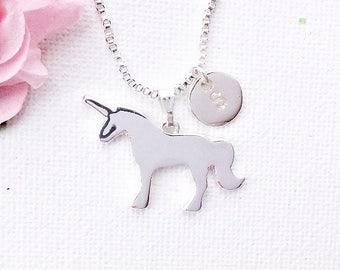 Silver unicorn Necklace, unicorn Jewellery, Best Friends, Gift Idea, Initials, animal jewelry, unicorn, unicorn gift, unicorn jewelry