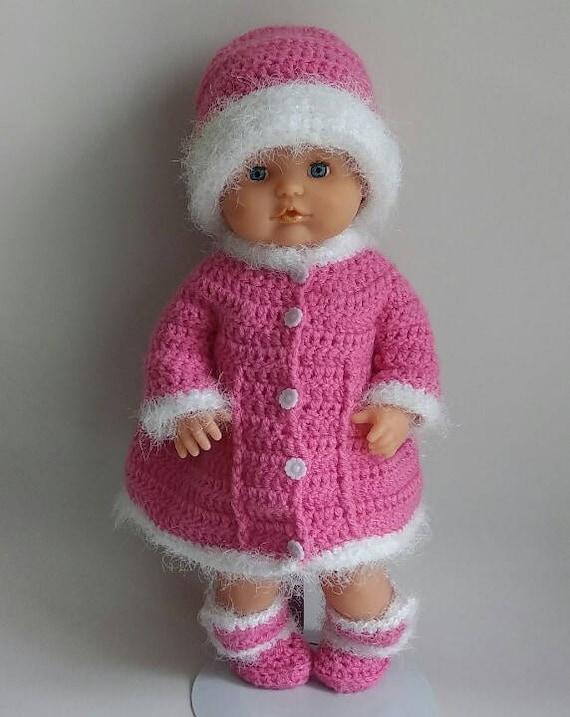 Baby Born Camillia Winterjas Haakpatroon Nl Etsy
