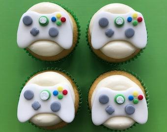 12 Xbox Controller Inspired Cupcake Topper Fondant