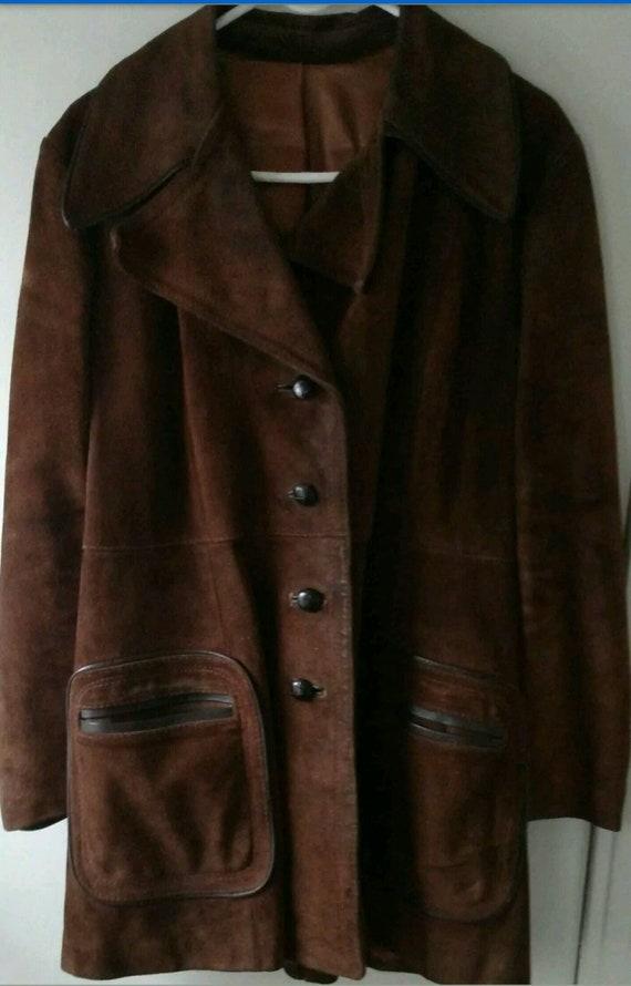 Vintage 1970s Leather Ladies Lined Brown Jacket