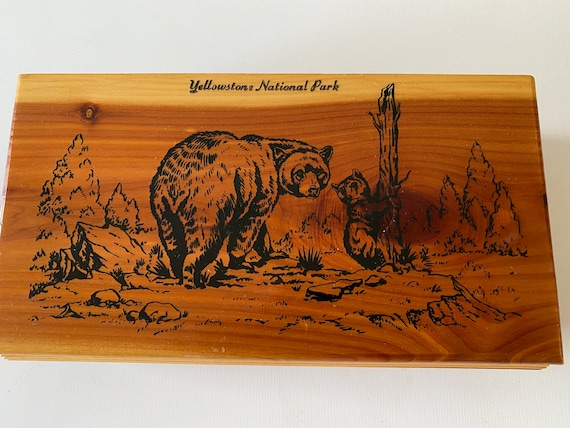 Vintage 60s Yellowstone National Park Jewelry Box