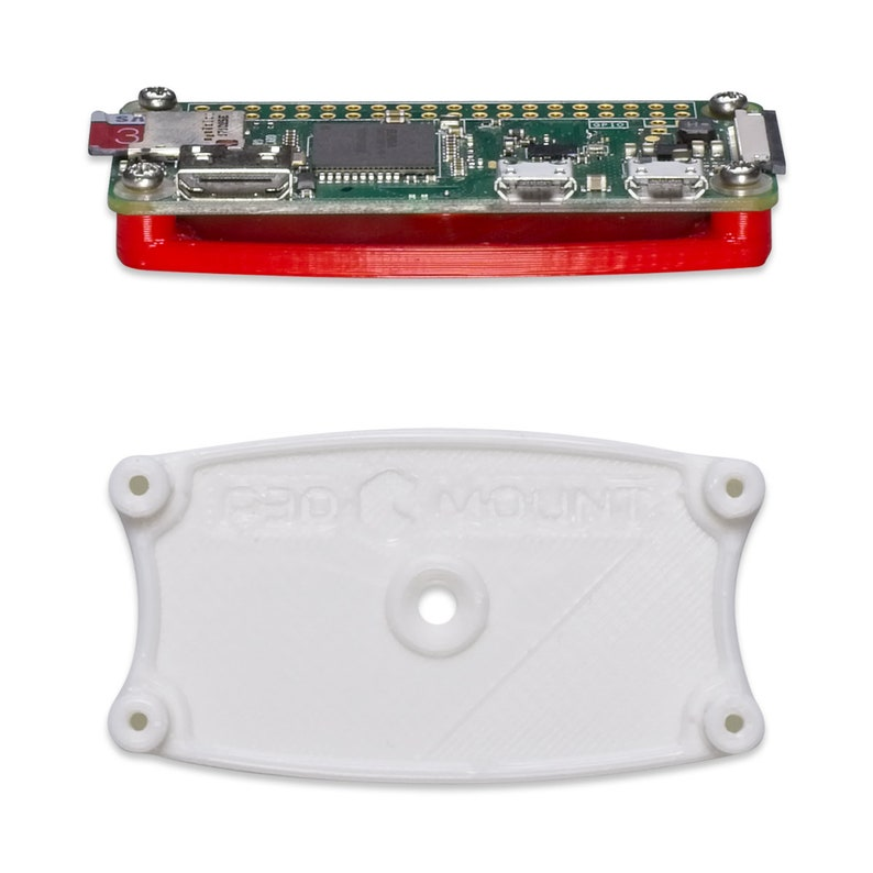Wall Desk Mount Bracket for Raspberry Pi Zero Series Silver