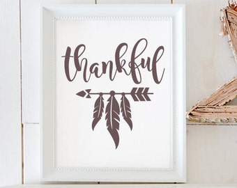 Thankful / Instant Download / Clipart graphic files/ Cutting File in Svg, Eps, Dxf, Png, Jpeg, Cricut, Silhouette, Thanksgiving SVG