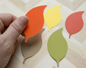 Leaf Die Cuts - Autumn Leaves - Leaf Punch - Scrapbooking - DIY Tags - Autumn Wedding