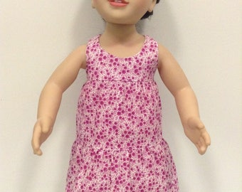 Purple tiered summer dress to suit 20 inch Australian girl doll or 18 inch American girl doll