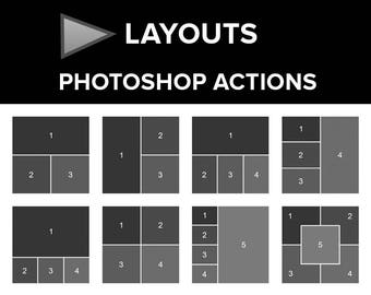 Page Layouts Photoshop Actions