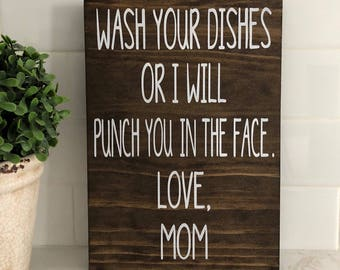 Wash Your Dishes, Funny Kitchen Sign, Funny Signs, Kitchen Signs, Kitchen  Humor, Kitchen Wall Decor, Motheru0027s Day Gift, Kitchen Decor