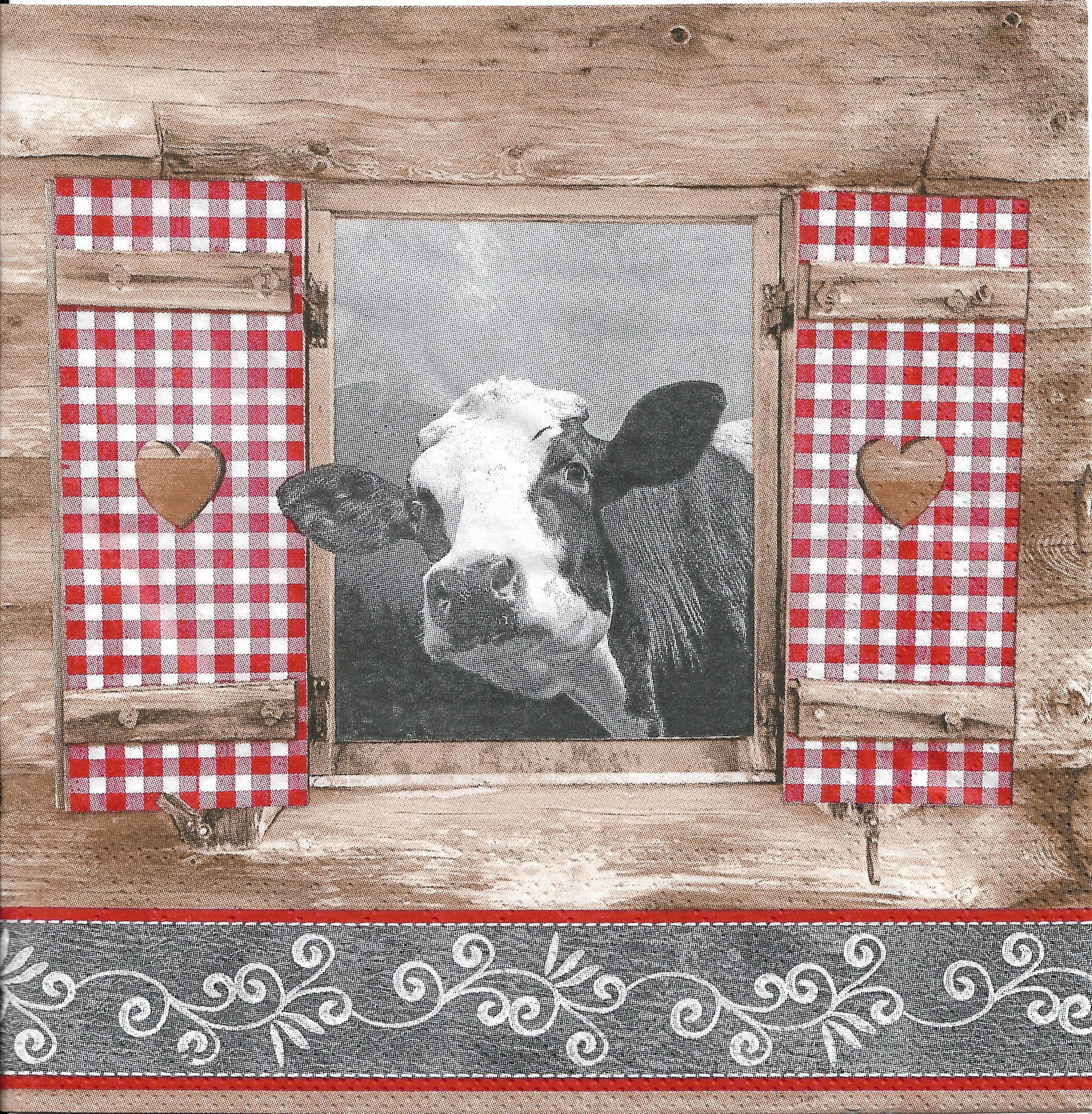 5 Serviettes en papier Vache des des Vache Alpes 83953 pour Decoupage Collage Decopatch c805ee