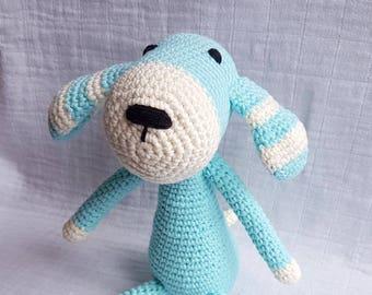 Crochet Dog, Dog Toy, Crochet Dog Toy, Amigurumi Dog, Blue Dog, Baby Gift, Stuffed Toy Dog, Cochet Animal, Amigurumi Puppy, Crochet Puppy
