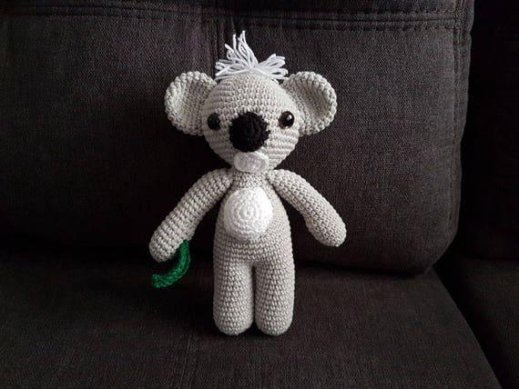 Koala Bear Handmade Crochet Koala Soft Toy Amigurumi Koala Soft Koala Toy Toy Koala Bear Koala Doll Crochet Koala Koala Baby Toy