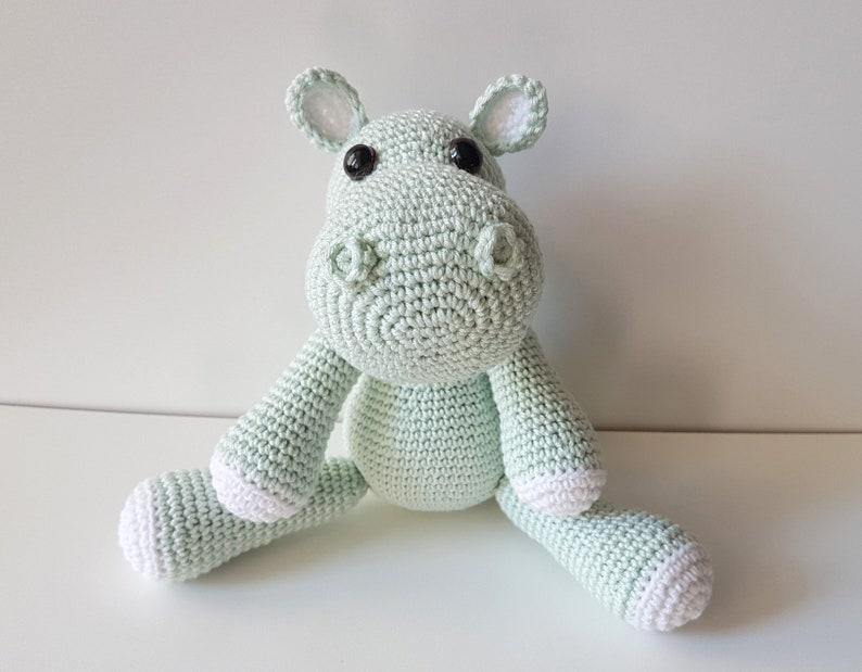 Childrens Toy Hippo Crochet Hippo