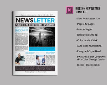 Newsletter template etsy business newsletter template wajeb Gallery