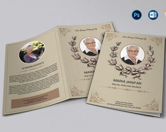 printable funeral program template memorial program etsy