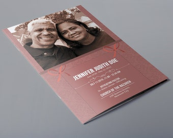 funeral program template memorial service template etsy
