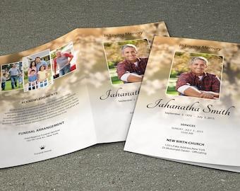 printable funeral program template memorial program template photoshop and ms word template instant download fp 059