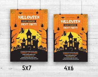 Items Similar To Halloween Invitation Template Halloween Party