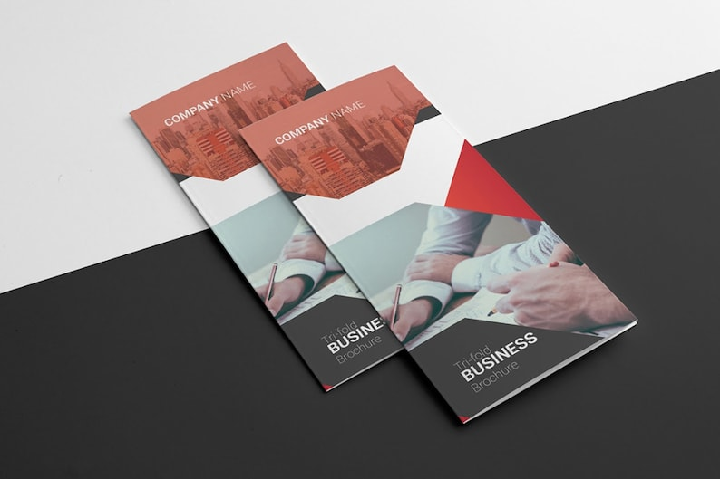 Business Brochure Template | Trifold Corporate Brochure , Illustrator  Template, Instant Download