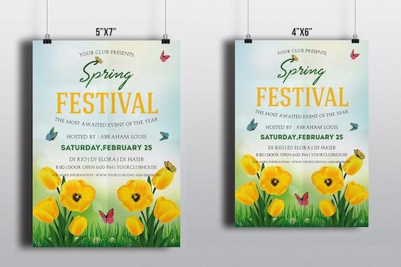 Frühling Festival Flyer Vorlage Partei Flyer Frühling