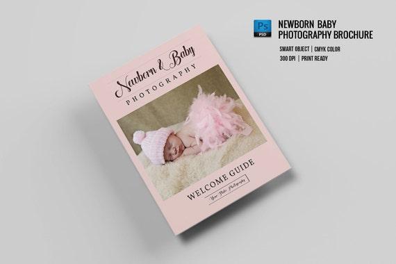 Newborn Photography Magazine Template Promotional Brochure Etsy