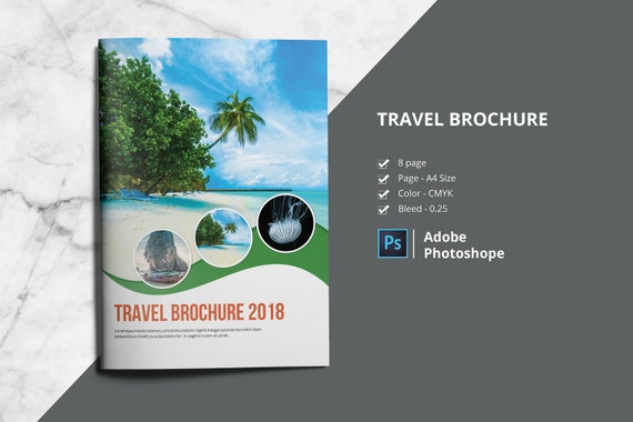 Travel Agency Brochure Template Photoshop Template Etsy
