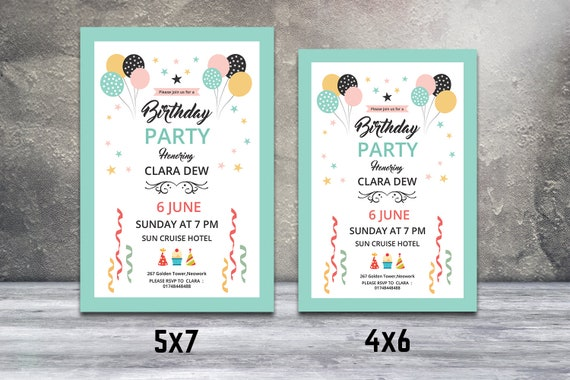 Birthday Invitation Template Party Flyer Ms Word