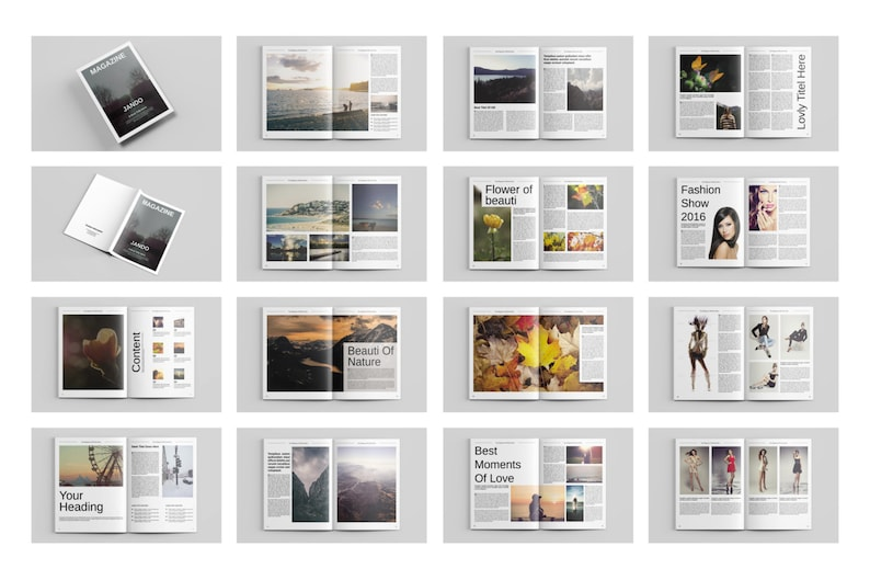 Indesign Magazine Template Multipurpose Magazine Template Etsy