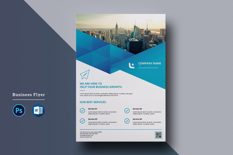 Corporate Flyer Template  A4 Business Flyer      Ms Word and image 0