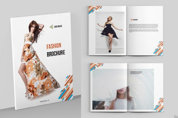 fashion brochure fashion photography brochure template etsy