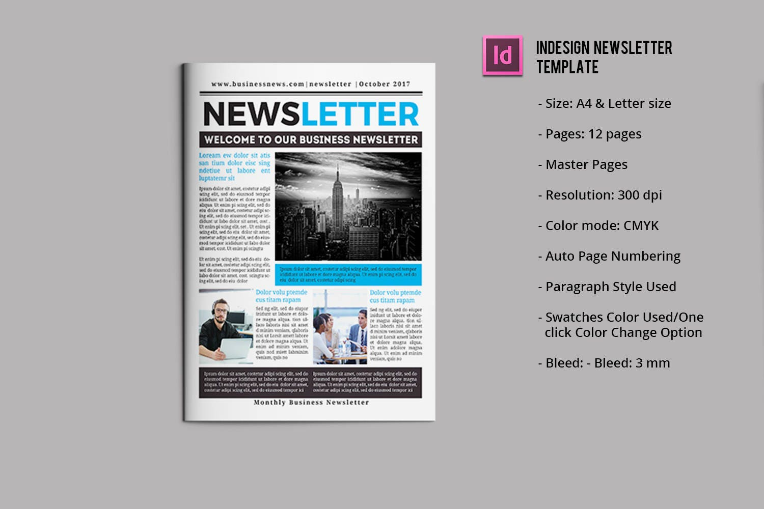 il_fullxfull.1278686156_p4wi  Page Newsletter Template Indesign on indesign layout templates, create your own newsletter templates, yearbook page layout templates, print newsletter templates,