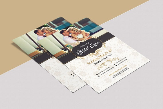 Bridal Expo or Show Flyer Template | Photoshop & Elements Template |  Instant Download