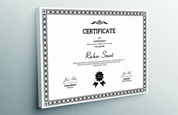 Zertifikat-Vorlage Unternehmens-Zertifikat