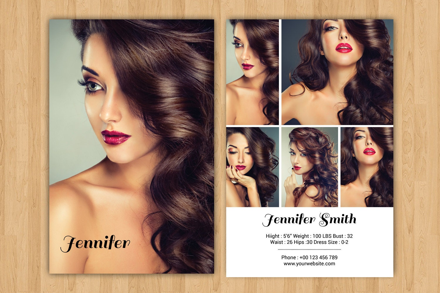Modeling Comp Card Template  Model Comp Card Photoshop ,Elements & MS Word  Template  Instant Download  mc-21 With Regard To Comp Card Template Psd