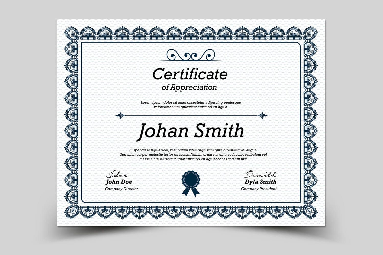 Mehrzweck-Zertifikat-Vorlage Photoshop & Elements Vorlage