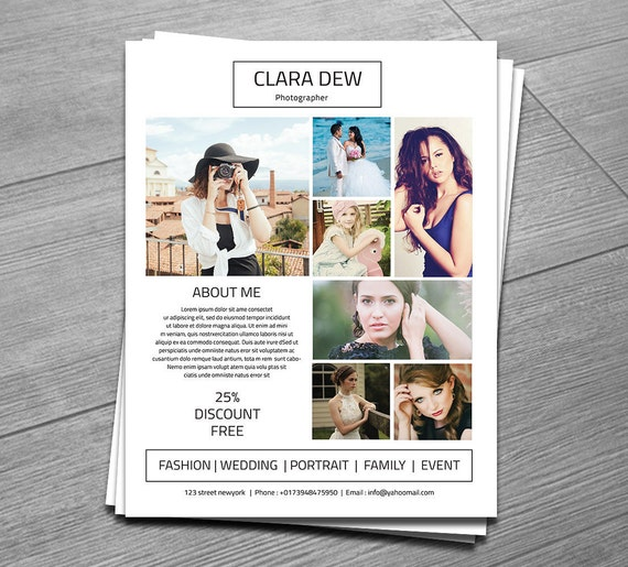 Photography Flyer Template Marketing Template For