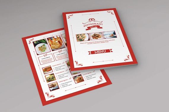 Speisekarte Vorlage Photoshop & Elements Vorlage Druckbare