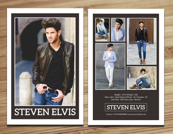 Model Comp Card Template Modeling Comp Card Fashion Card Etsy