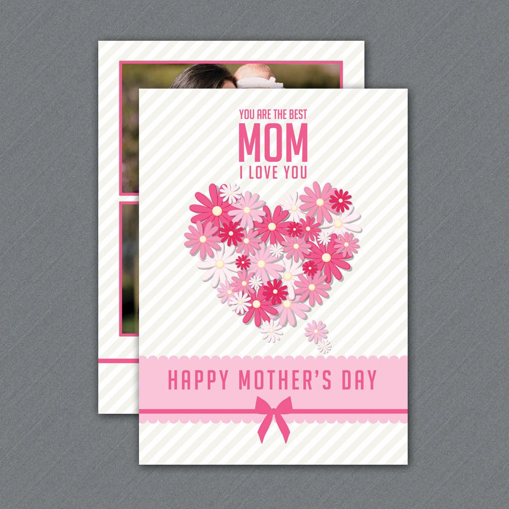 Printable Mothers Day Card Template Mother's Day   Etsy
