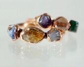 Personalized Raw Stone Ring • Custom Raw Stone Ring • Silver Raw Stone Ring • Gold Raw Stone Ring