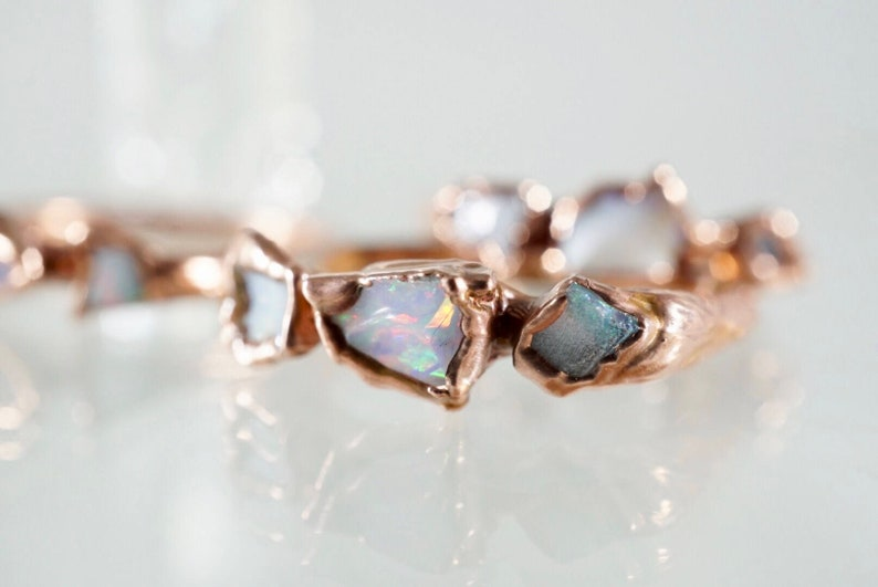 Raw Opal Ring for Women Raw Engagement Ring Mermaid Ring image 0