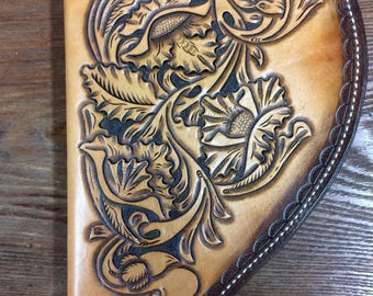 Medium Hand Tooled Pistol Case