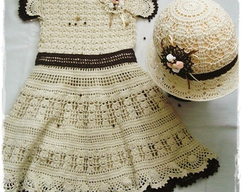 Vintage beige dress for children