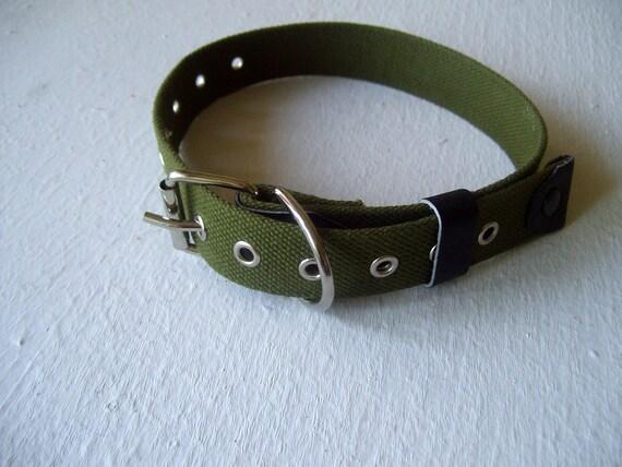 Collier chien collier sans dimension en toile de coton ruban