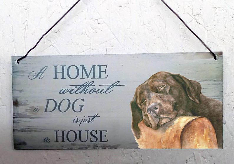 brown decorative sign Metal hanging sign Labradoodle dog metal plaque
