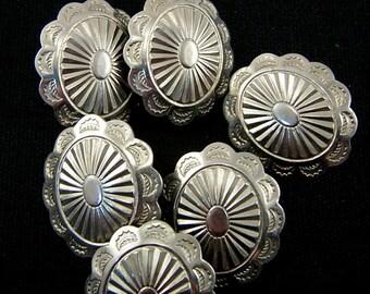 sterling silver Navajo handmade hoop earrings Little over half an inch gold filled overlay beautiful. Sunburst design