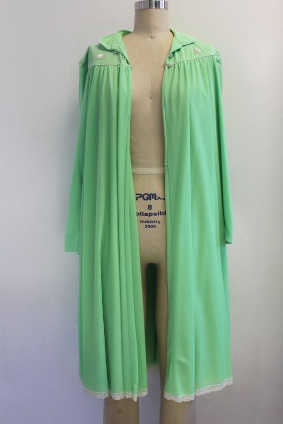 Vintage Lucie Ann Claire Sandra Lime Green Peignoi