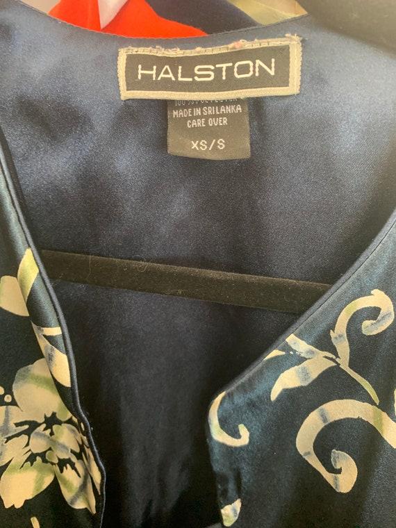 Vintage HALSTON 2pc Robe and Slip - image 6